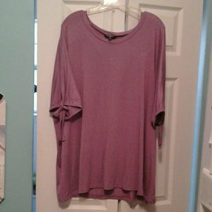 Mauve Viscose/Spandex super soft top with slit tie